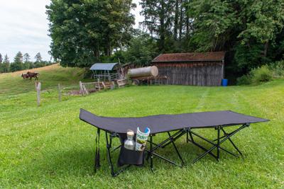 Afbeeldingsresultaat voor Origin Outdoors Travelchair 'Camp Bed'